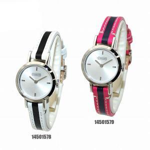 COACH (コーチ) 腕時計 14501578 ホワイト/ブラックレザー 14501579 ピンク/ネイビーレザー レディース 時計 ウォッチ|timeclub