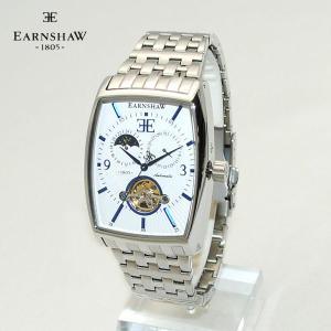 【国内正規品】 EARNSHAW (アーンショウ) 時計 腕時計 ES-8010-22 ブレス ホワイト/シルバー メンズ ウォッチ 自動巻き|timeclub