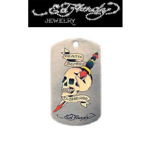 "Ed Hardy(エドハーディー)""DEATH BEFORE DISHONOR"" ドッグタグ EHDT36SS