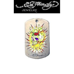 "Ed Hardy(エドハーディー)""X-PLODING COLOR"" ドッグタグ EHDT55SS