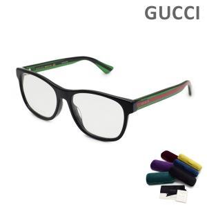 グッチ メガネ  眼鏡 フレーム のみ GG0004OA-002 ブラック/グリーン/レッド メンズ アジアンフィット GUCCI|timeclub