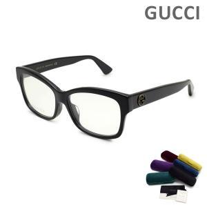 グッチ メガネ  眼鏡 フレーム のみ GG0100OA-001 ブラック アジアンフィット レディース GUCCI|timeclub