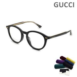 グッチ メガネ  眼鏡 フレーム のみ GG0192OA-001 ブラック/ゴールド アジアンフィット レディース GUCCI|timeclub