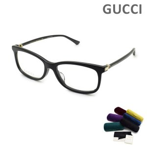 グッチ メガネ 眼鏡 フレーム のみ GG0296OA-001 ブラック アジアンフィット メンズ GUCCI|timeclub