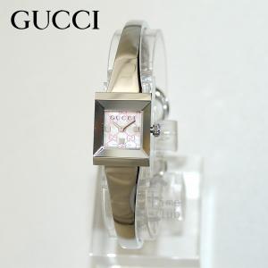 1c82421f3fb8 GUCCI(グッチ) 時計 腕時計 YA128516 シルバー/ピンクシェル Gフレーム レディース