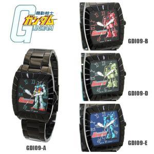決算価格  限定100本!機動戦士ガンダム 時計 腕時計 RX-78-2 ガンダム MS-06S シャアザク MS-06 ザク2 MS-07B グフ メンズ GDI09|timeclub
