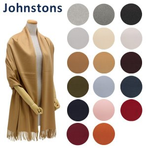 Johnstons (ジョンストンズ) マフラー 大判 Solid Stole WA000056 ソ...
