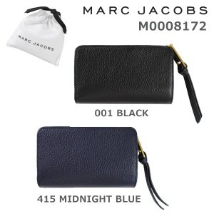 MARC JACOBS (マークジェイコブス) 二つ折り財布 M0008172 001 BLACK 415 MIDNIGHT BLUE レザー 財布 レディース|timeclub