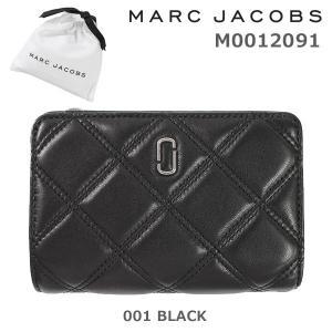 MARC JACOBS (マークジェイコブス) 二つ折り財布 M0012091-001 BLACK レザー 財布 レディース|timeclub