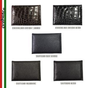 OROBIANCO オロビアンコ FIGARILLO-I 名刺入れ カードケース メンズ COCCOLINO LUCIDO SAFFIANO NERO T.MORO MARRONE BLU SCURO timeclub