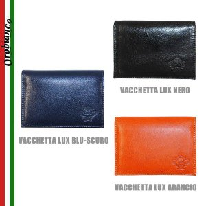 OROBIANCO オロビアンコ FIGARO-I 名刺入れ カードケース メンズ VACCHETTA LUX NERO BLU-SCURO ARANCIO timeclub