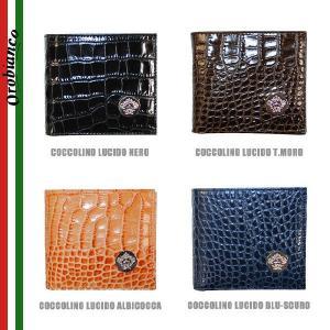 OROBIANCO オロビアンコ FIRIPPO-F 財布 二つ折り財布 メンズ クロコ COCCOLINO LUCIDO NERO T.MORO ALBICOCCA BLU-SCURO timeclub