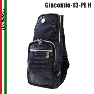 OROBIANCO オロビアンコ GIACOMIO 13PL-H BLU ボディバッグ  ショルダーバッグ メンズ レザー|timeclub