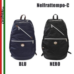 OROBIANCO オロビアンコ Nelfrattempo-C BLU NERO リュック バックパック バッグ リュックサック メンズ ナイロン|timeclub