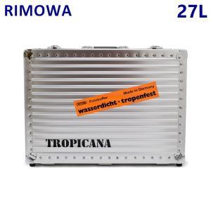 RIMOWA リモワ HANDKOFFER TROPICANA ハンドコッファートロピカーナ 27L 370.05.00.0 シルバー アタッシュケース トランク|timeclub