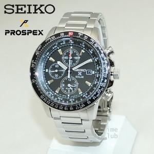 セイコー 腕時計 メンズ SEIKO 時計 SBDL029 PROSPEX プロスペックス シルバー/ブラック ソーラーウォッチ クロノグラフ|timeclub