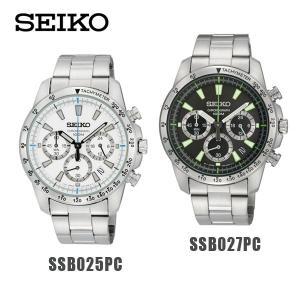 国内正規品 SEIKO(セイコー) 時計 腕時計 海外モデル 逆輸入 SSB025PC SSB025P1 SSB027PC SSB027P1 クロノグラフ|timeclub