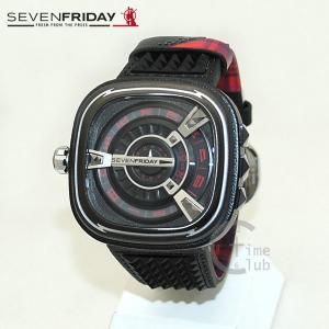 SEVEN FRIDAY (セブンフライデー) 時計 腕時計 SF-M1/04 ブラック レザー 自動巻き|timeclub