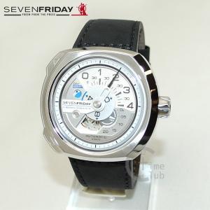 SEVEN FRIDAY (セブンフライデー) 時計 腕時計 SF-V1/01 シルバー/ブラック レザー 自動巻き|timeclub