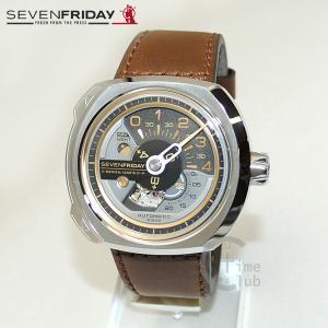 SEVEN FRIDAY (セブンフライデー) 時計 腕時計 SF-V2/01 シルバー/ブラウン レザー 自動巻き|timeclub