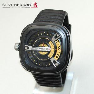 SEVEN FRIDAY セブンフライデー 時計 腕時計 SFM2/01 イエロー ブラック レザー 自動巻き M-SERIES|timeclub