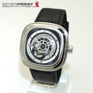 SEVEN FRIDAY (セブンフライデー) 時計 腕時計 SFP1B/01 シルバー/ブラック レザー 自動巻き Industrial Essence|timeclub