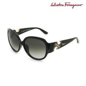 国内正規品 Salvatore Ferragamo サルヴァトーレ フェラガモ SF682SA 001 SOLID BLACK サングラス レディース|timeclub
