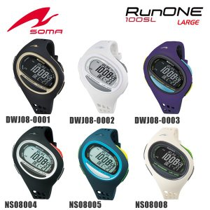 d2e9270db1 国内正規品 SOMA (ソーマ) 時計 腕時計 DWJ08-0001 0002 0003 NS08004 005 008 RunONE 100SL  ラージサイズ ランワン ランニングウォッチ