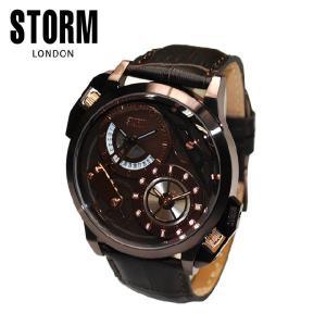 STORM LONDON(ストームロンドン) 時計 腕時計 47147BRBR DUALMEC レザー メンズ 国内正規品|timeclub