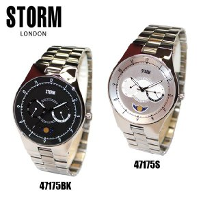 STORM LONDON(ストームロンドン) 時計 腕時計 ALVAS 47175BK ブラック 47175S シルバー メンズ 国内正規品|timeclub