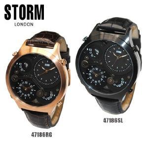 STORM LONDON(ストームロンドン) 時計 腕時計 QUADRA 47186RG ローズゴールド 47186SL ブラック メンズ 国内正規品|timeclub