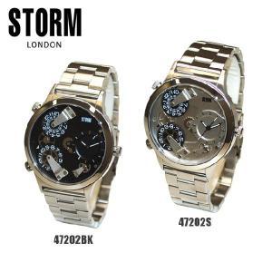 STORM LONDON(ストームロンドン) 時計 腕時計 TRION 47202S シルバー 47202BK ブラック メンズ 国内正規品|timeclub