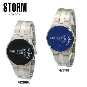 《》STORM LONDON(ストームロンドン) 時計 腕時計 TRION 47210BK 47210B ブラック メンズ 国内正規品|timeclub