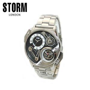 STORM LONDON(ストームロンドン) 時計 腕時計 47229BK DUALTRON BLACK シルバー/ブラック メンズ 国内正規品|timeclub