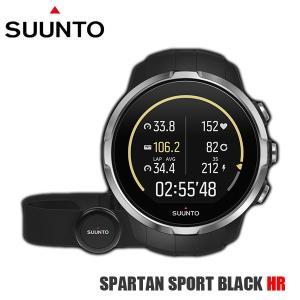 SUUNTO スント 腕時計 時計 SUUNTO SPARTAN SPORT BLACK HR (スパルタン スポーツ) 心拍測定ベルト付き SS022648000 黒|timeclub