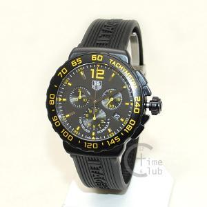 タグホイヤー TAG HEUER 時計 腕時計 CAU111E.FT6024 フォーミュラ1 42mm ブラック/イエロー ラバー メンズ timeclub