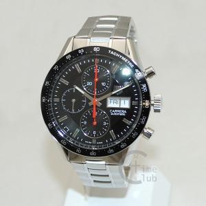 タグホイヤー TAG HEUER 時計 腕時計 CV201AH.BA0725 CARRERA カレラ 自動巻き 41mm ブレス シルバー/ブラック メンズ timeclub