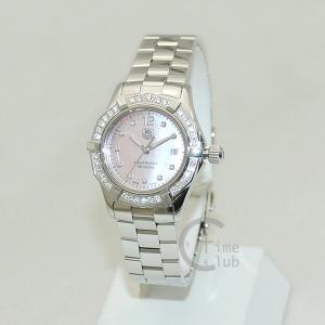 タグホイヤー TAG HEUER 時計 腕時計 WAF141B.BA0824 アクアレーサー 27mm ピンクシェル/シルバー レディース timeclub