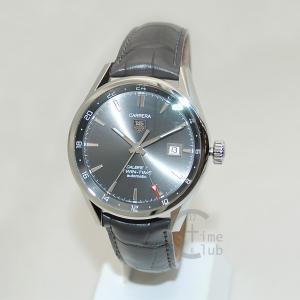 タグホイヤー TAG HEUER 時計 腕時計 WAR2012.FC6326 CARRERA カレラ 自動巻き 41mm レザー グレー/シルバー メンズ timeclub