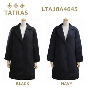 TATRAS (タトラス) ダウン レディース LTA18A4645 SANTOLINA ダウンジャケット ダウンコート BLACK ブラック NAVY ネイビー|timeclub