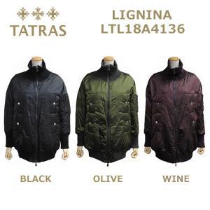 在庫処分! TATRAS (タトラス) ダウン レディース LTL18A4136 LIGNINA ダウンジャケット ダウンコート BLACK ブラック OLIVE オリーブ WINE ワイン|timeclub