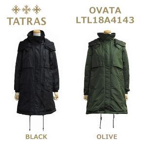 在庫処分! TATRAS (タトラス) ダウン レディース LTL18A4143 OVATA ダウンジャケット ダウンコート BLACK ブラック OLIVE オリーブ 【送料無料(※北海道・沖|timeclub