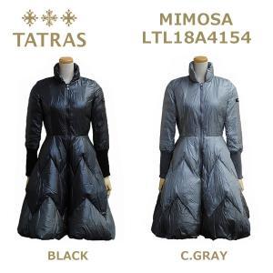 在庫処分! TATRAS (タトラス) ダウン レディース LTL18A4154 MIMOSA ダウンジャケット ダウンコート BLACK ブラック C.GRAY グレー|timeclub