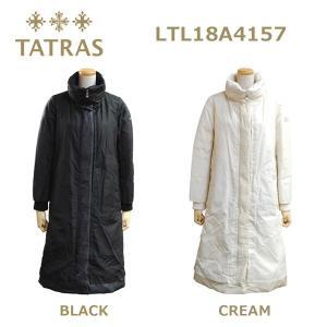 在庫処分! TATRAS (タトラス) ダウン レディース LTL18A4157 ACHILLEA ダウンジャケット ダウンコート BLACK ブラック CREAM クリーム|timeclub