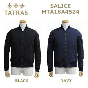 TATRAS (タトラス) ダウンジャケット メンズ MTA18A4524 SALICE BLACK ブラック NAVY ネイビー MA1 MA-1 [1718]|timeclub