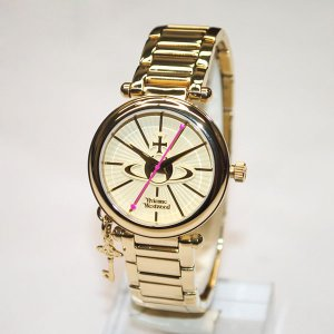 Vivienne Westwood (ヴィヴィアンウエストウッド) 腕時計 VV006KGD 時計 レディース ヴィヴィアン タイムマシン ブレス|timeclub