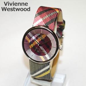 Vivienne Westwood (ヴィヴィアンウエストウッド) 腕時計 VV020BR SPIRIT チェック レザー 時計 メンズ レディース ヴィヴィアン タイムマシン timeclub