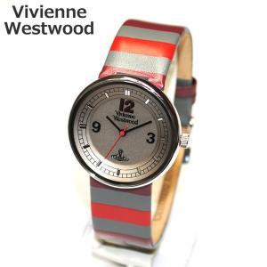 Vivienne Westwood (ヴィヴィアンウエストウッド) 腕時計 VV020GY SPIRIT ボーダー ドット レザー 時計 メンズ レディース ヴィヴィアン タイムマシ timeclub