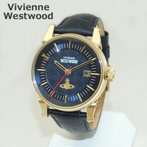 Vivienne Westwood (ヴィヴィアンウエストウッド) 腕時計 VV065BLBL ネイビー レザー/ゴールド 時計 メンズ ヴィヴィアン|timeclub