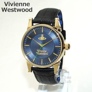 Vivienne Westwood (ヴィヴィアンウエストウッド) 腕時計 VV065NVBK ブラック レザー/ゴールド/ネイビー 時計 メンズ ヴィヴィアン|timeclub